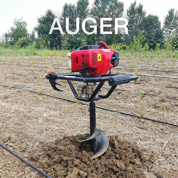 digging holes for trees with an auger